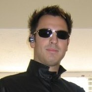 Dan dressed as Neo from The Matrix